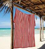 North Point Sleep Master Jacquard Velour Hotel Cabana Stripe Beach Towel, 30 by 60